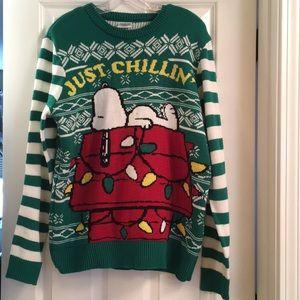 Peanuts Snoopy Just Chillin' Oversized Sweater, L